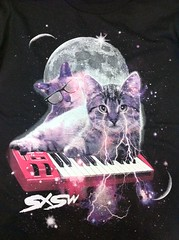 Keyboard Cat Three Wolf Moon Lightning Eyes