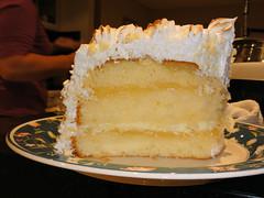 Lemon Curd Sponge Cake w/ Italian Meringue Frosting (MinkBlue) Tags: birthday food cooking cake dessert lemon italian with plate and citrus sponge meringue frosting curd minkblue