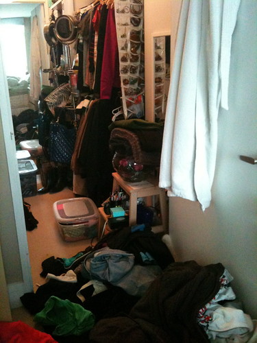 PROJECT SIMPLIFY: BEFORE: My closet is a disaster!