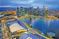 Another Lookout Point @ Sands SkyPark (williamcho) Tags: show tourism colors architecture modern singapore cityscape fb events ngc restaurants casino exhibition explore trendy conference bluehour pubs lasershow exhibits attraction psa d300 shoppes singaporeskyline otw kartpostal impressedbeauty marinabaysands flickraward marinabaysingapore nikonflickraward theshoppes williamcho marinabayfinancialcentre artsciencemuseum sandsskypark flickrtravelaward