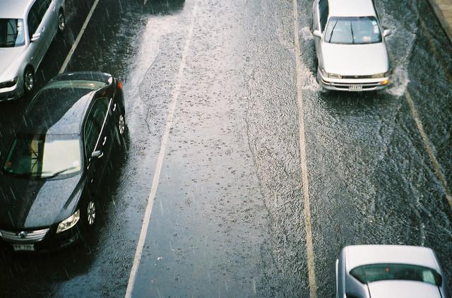 A pair of rain