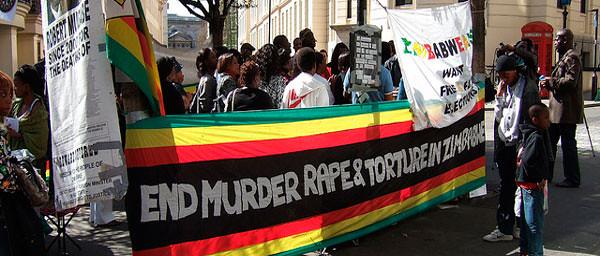 Zimbabwe vigil, by Ben Sutherland