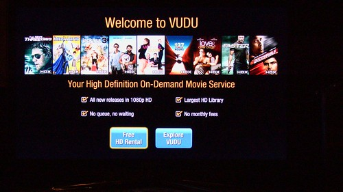 Vudu Samsung 6500 Welcome Screen Booya