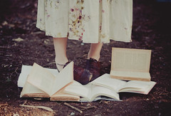 tender books and oxford shoes (Ana Lusa Pinto [Luminous Photography]) Tags: book shoes dress floor earth ground books oxford