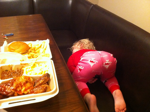 Asleep at the table