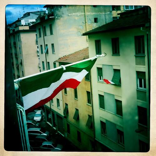 Bandiere in città