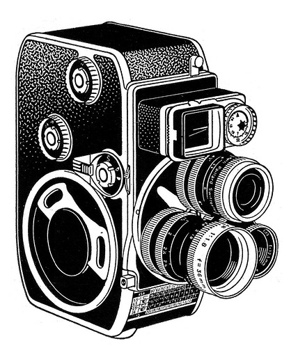 Rolleiflex Camera Drawing Bolex D-8l Camera ad Line Art