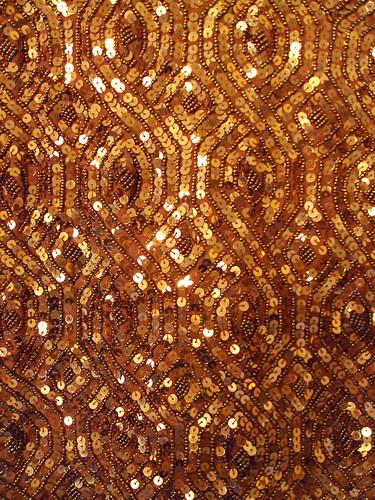 Bronze Vintage Sequin Dress (detail)