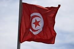 * (Gwenal Piaser) Tags: red backlight canon rouge eos march tunisia flag usm hammamet canoneos contrejour tunisien drapeau 70200mm 2011 f4l canon70200f4 50d 70200mm4l eos50d canoneos50d canonef70200mmf4lisusm unlimitedphotos gwenaelpiaser