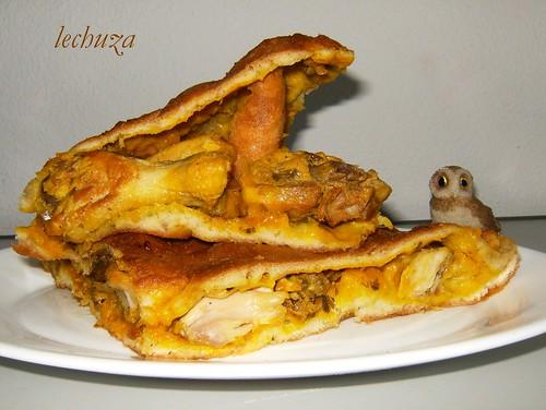Empanada de pollo-plato