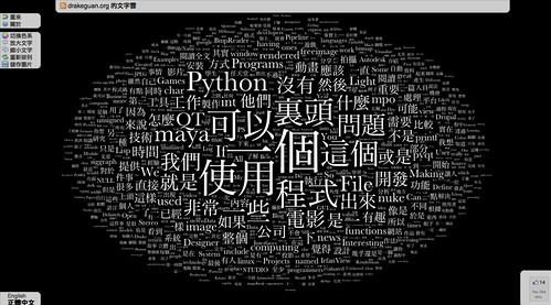HTML5 文字雲:文章詞彙分析機