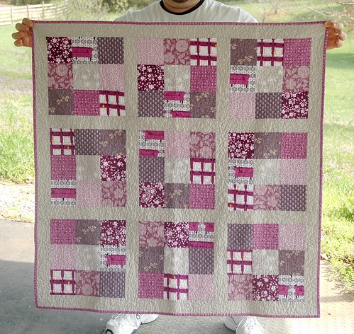 Finished! Purple baby quilt