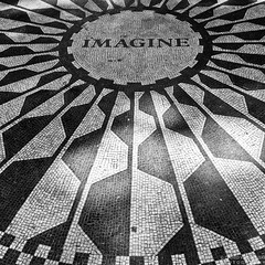 ...All the People / Living for Today (Dawid Werminski) Tags: new york city nyc bw musician white ny black rock contrast america canon john square eos rebel memorial artist angle state united wide pop sidewalk tiles poet imagine beatles british format tribute states mm usm lennon invasion efs dawid 1022 visionary songwriter xsi the jork nowy 500x500 f3545 450d werminski