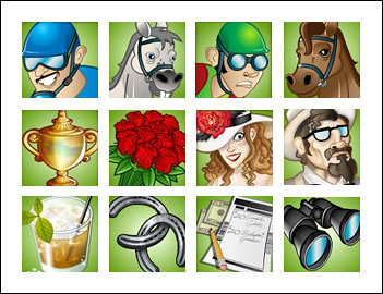 free A Day at the Derby slot game symbols