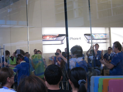 Craziness at the Apple Store