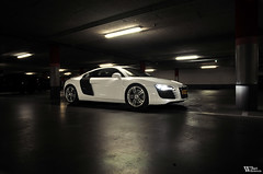 Audi R8 (Bart Willemstein) Tags: auto light white black cars netherlands car dark nikon garage albert parking flash lot automotive nikkor audi hoofddorp r8 heijn bartw d300s autogespot autogespotcom bartwillemsteinnl