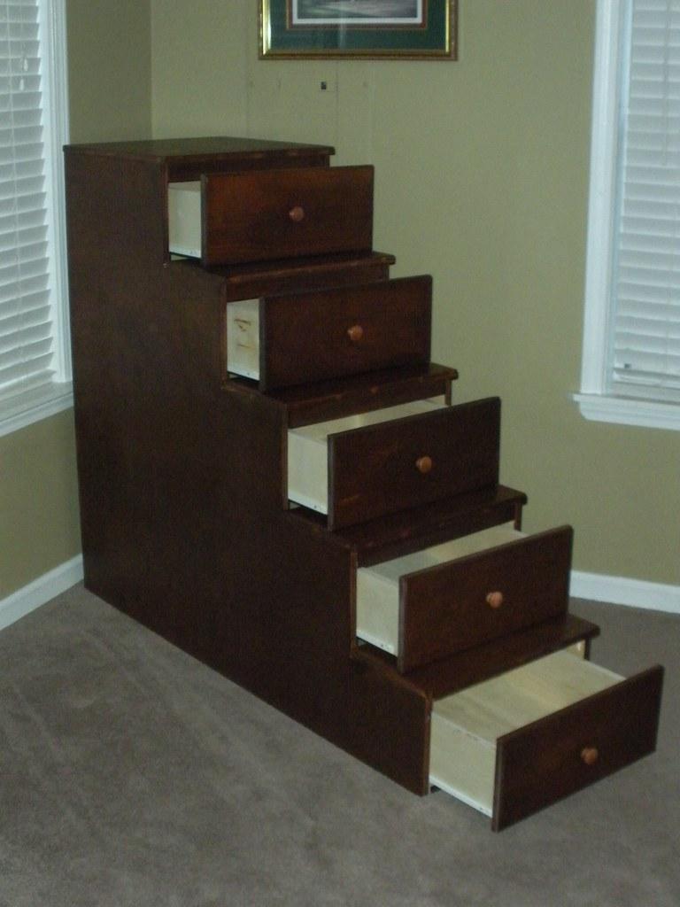Bunk Bed stairway unit open