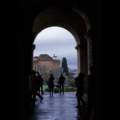 occhio caramella (CaitlinKrause) Tags: city urban italy rome roma rain italia pantheon colosseum unification