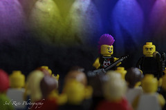Lego Punk Club (3rd-Rate Photography) Tags: canon toy funny lego florida punkrocker jacksonville flyingv 50d toyphotography series4 earlware