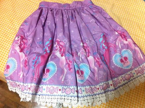 Pink Macaroon Unicorn Fantasy skirt
