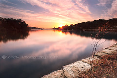 Serene Morning (SoniaMphotography) Tags: pink como reflection marina sunrise canon kimi bay jetty south sydney australia nsw shire sonia sutherland georgesriver soniam 450d soniamasarova