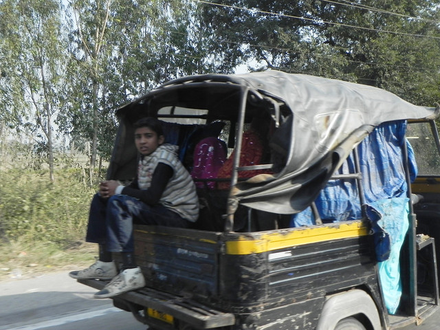 Kid in the auto-rickshaw