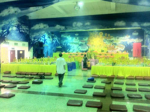 Prayer hall decorated for the Qingming ceremony