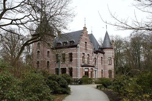 castle with english landscape garden