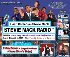 STEVIE MACK RADIO - Taka Boom: Singer/Producer (Chaka Khan's Sister)