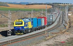 333-381-2 Teco VLC-AZQ Villasequilla (10+) jcs (ppcharly) Tags: valencia diesel continental rail container 333 prima contenedores locomotora teco intermodal azuqueca vossloh villasequilla