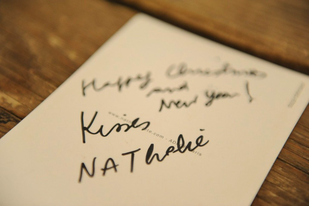 Novoletna čestitka od Nathalie Lete.