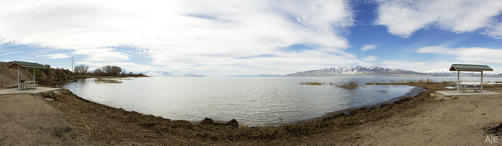 Utah Lake Beach Panorama