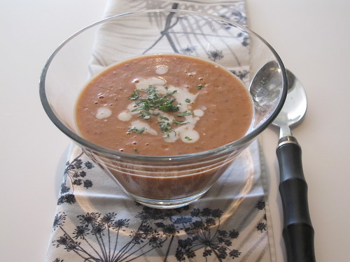 Spicy coconut bean soup