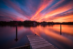 Mullica (DJawZ) Tags: sunset longexposure sunsetwx river water dock sky clouds light outdoor new jersey nj mullica batsto evening beautiful evanscott nd filter dusk serene pier