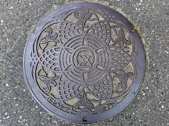 Nishiaizu Fukushima, manhole cover  (MRSY) Tags: nishiaizu fukushima japan manhole flower        lily