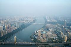 (mo.91) Tags: guangzhou china a33 canton tower river city urban smog pearl zhujiang sony minolta