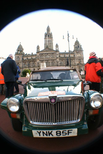Classic Rally Car at George Square, Glasgow