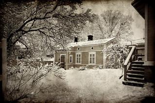 Finland - Vanha Rauma - a courtyard