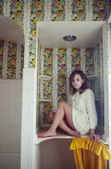 (yyellowbird) Tags: wallpaper house flower abandoned girl illinois cari rockford