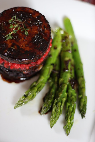 Balsamic-Agave Tofu with Beet Infused Couscous