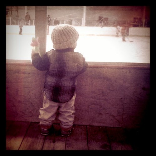 watching the big kids at the rink