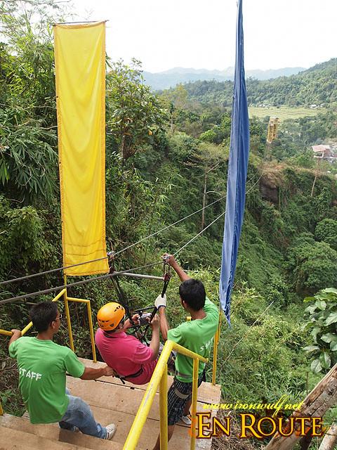 Zipline at PUGAD La Union during Leg-A