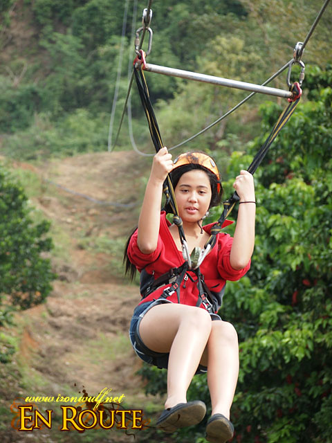 Hanging on tight at Zipline 2