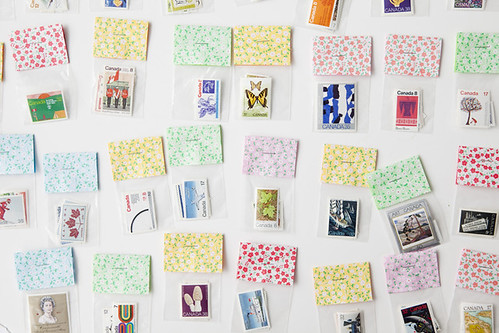 Vintage stamp packs