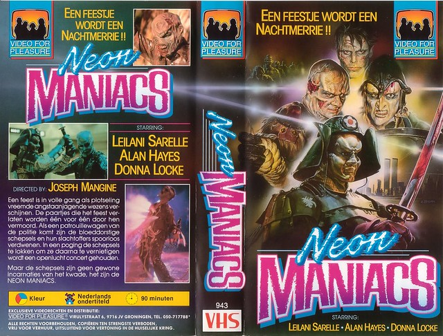 NEON MANIACS (VHS Box Art)