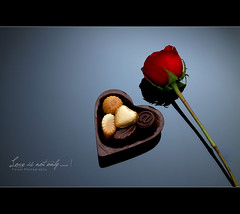 Love is not only ...... ! (Faisal | Photography) Tags: life red love rose canon eos still chocolate unique style l romantic usm f28 ef anaisnin 2470mm canonef2470mmf28l 50d canoneos50d canon580exii faisal|photography فيصلالعلي