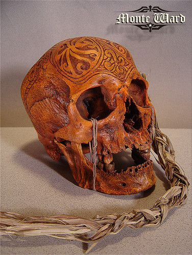 Another Angle Dayak Skull