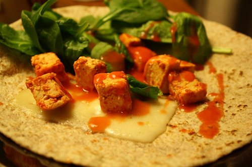 buffalo tofu wrap