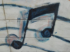 Musical Notes (mikecogh) Tags: music painting graffiti note adelaide cbd publicart artstheatre