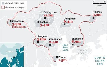 ville de Chine de 42 millions d'habitants